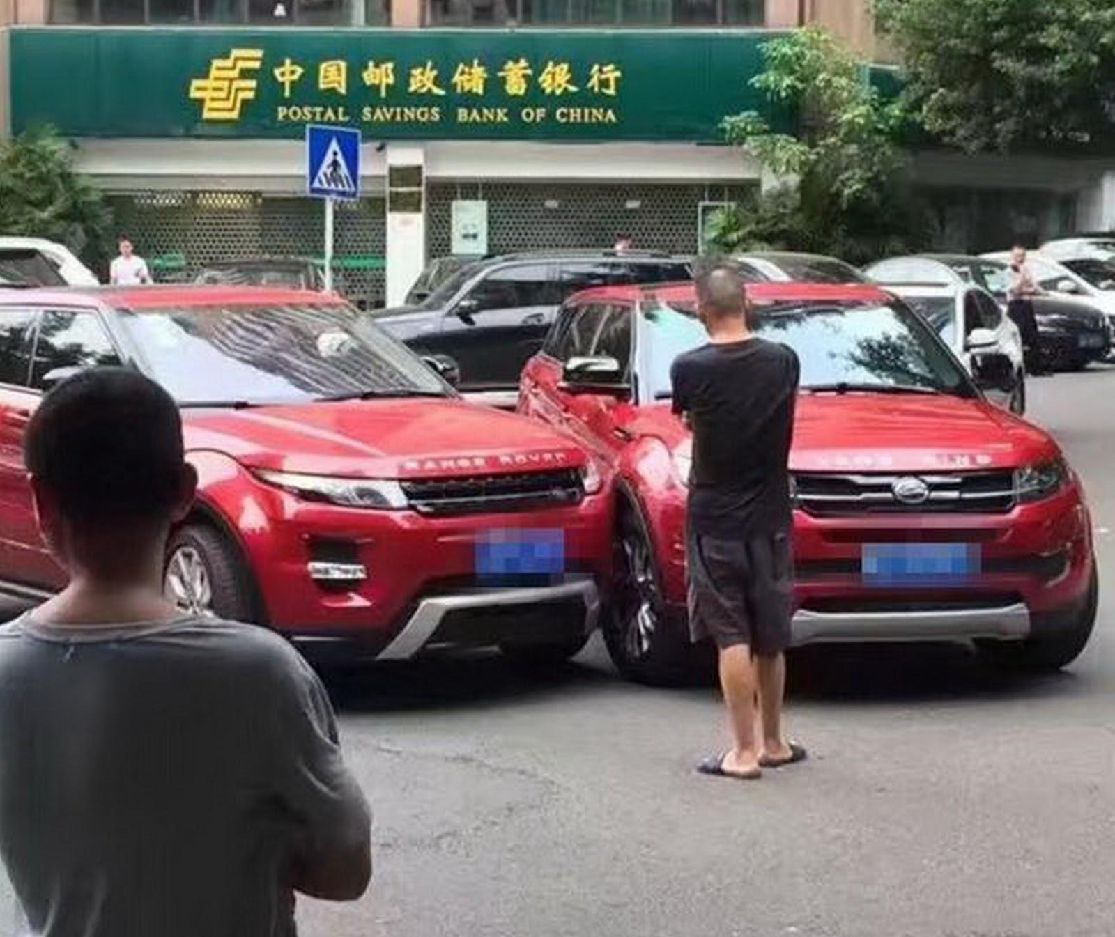 China S Landwind X7 Copycat Crashes Into Range Rover