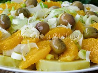 receta de ensaladilla malagueña de bacalao y naranjas