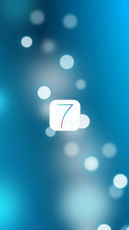 iOS 7 Logo With Blurred Lights   Galaxy Note HD Wallpaper