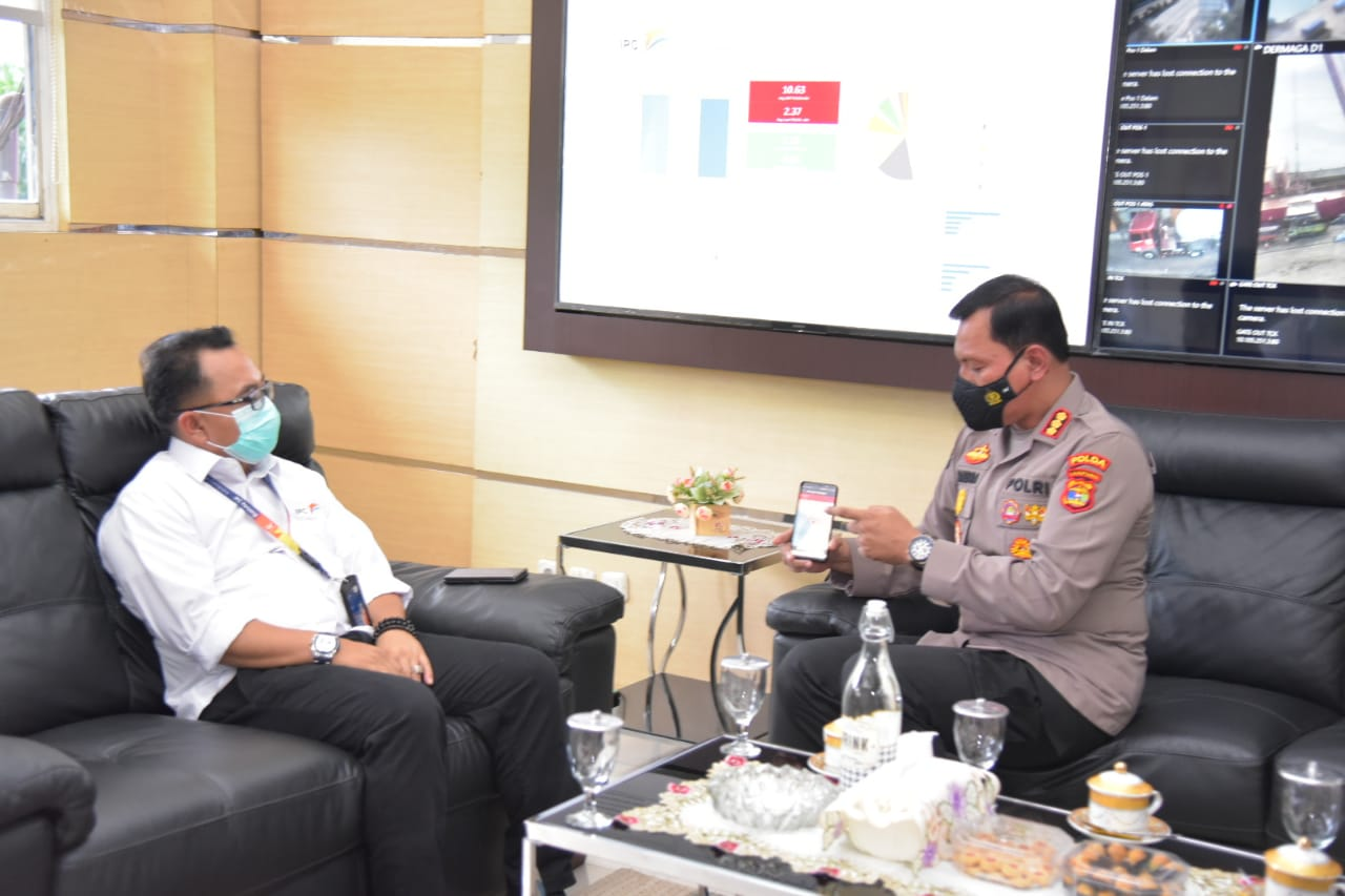 Program 100 hari Kapolri, Kabid Humas Polda Lampung jalin kemitraan dengan Indonesia Port Corporation (IPC) PT Pelabuhan Indonesia Panjang