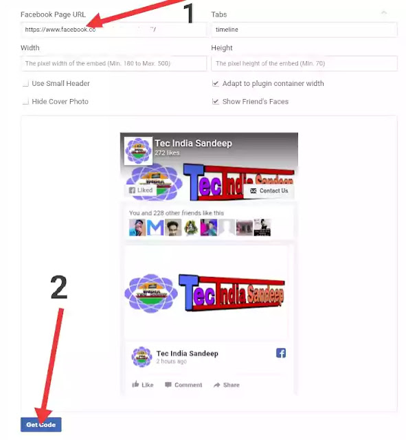 how to add Facebook page in Blogger