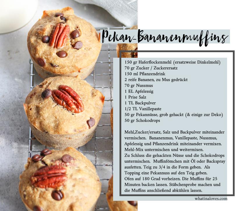 Bananen-Pekannuss-Muffins glutenfrei vegan