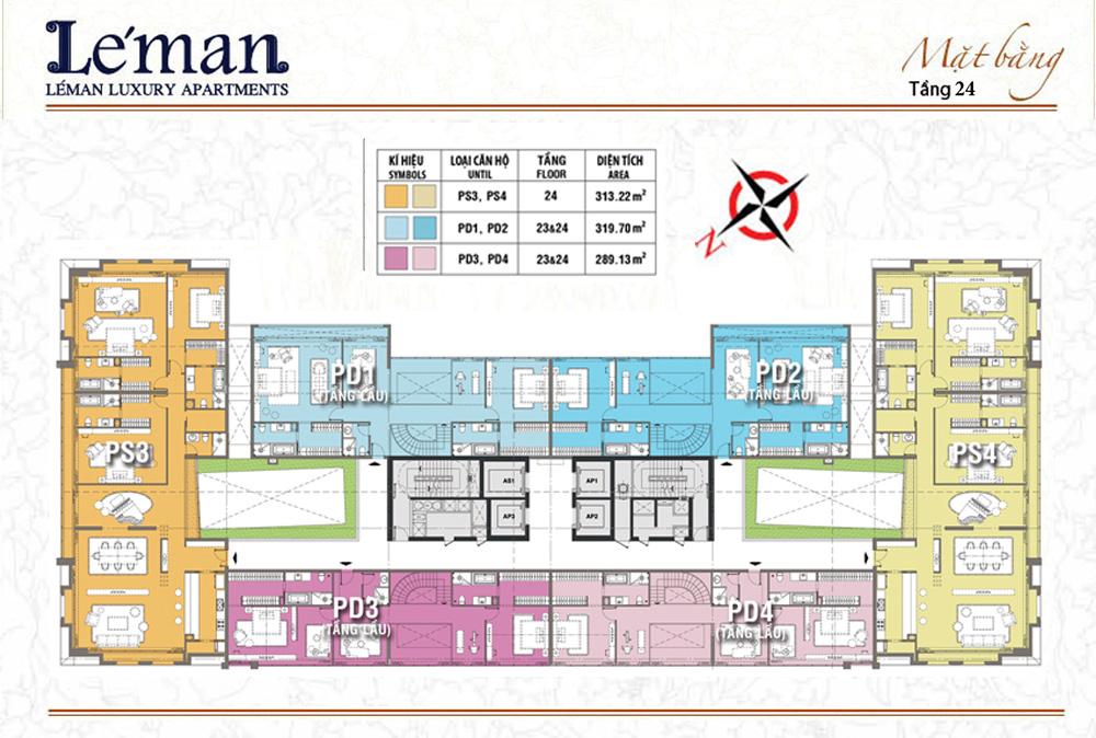 Mặt bằng Leman C T Plaza tầng 24