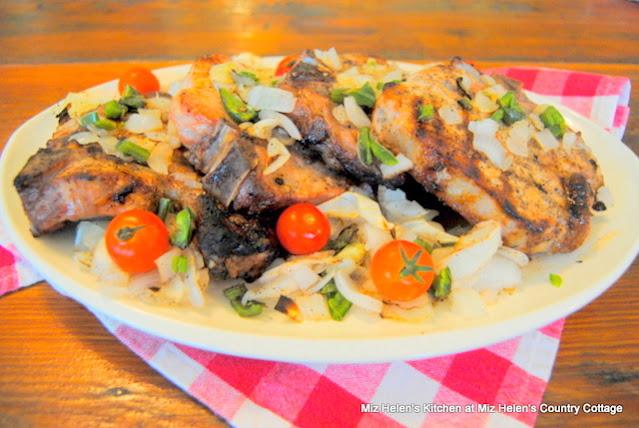 Grilled Jalapeno Pork Chops at Miz Helen's Country Cottage