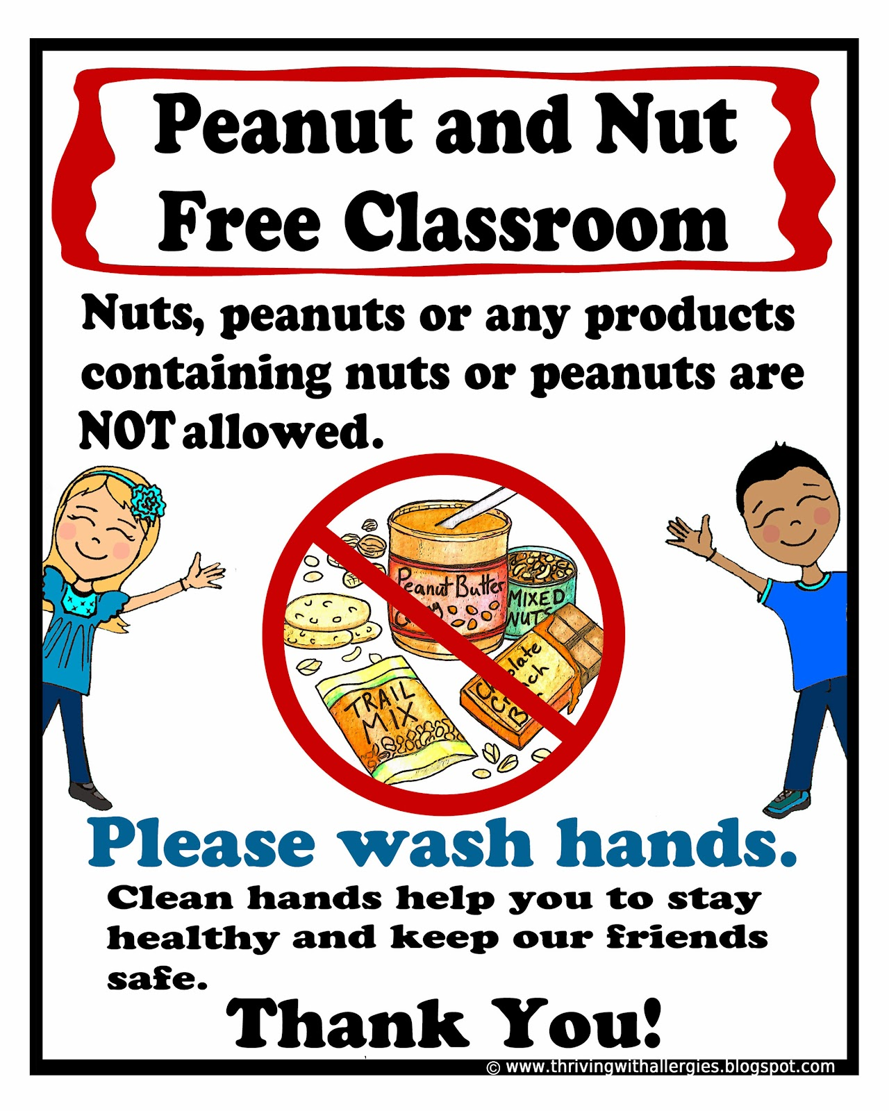 Thriving With Allergies Peanut Tree Nut Free Classroom
