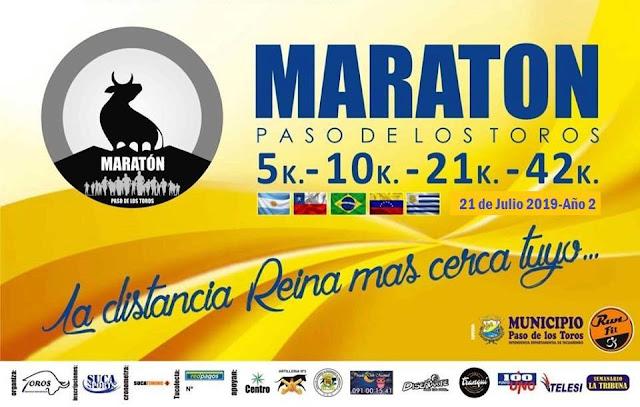 42k 21k 10k 5k Maratón de Paso de los Toros (Tacuarembó, 21/jul/2019)