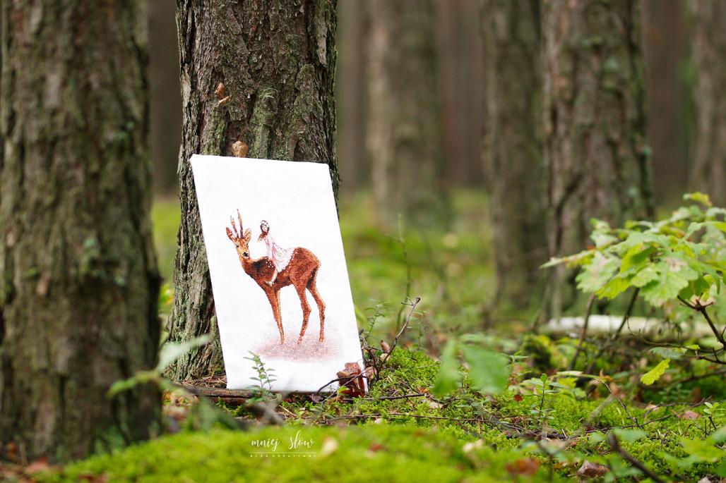 Fairy and deer - Natasha Dubrova, Lena Lawson Needlearts #2