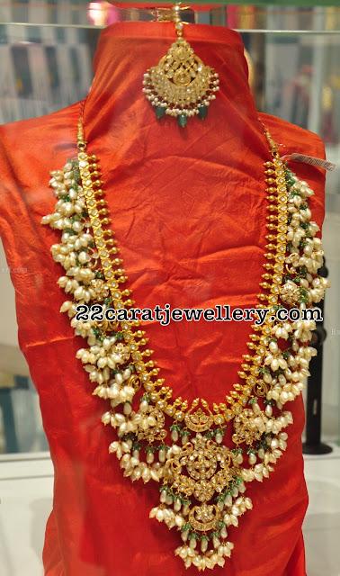 Kundan Guttapusalu Long Set by PMJ Jewels