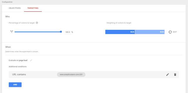 Google Optimize - 設定取樣對象