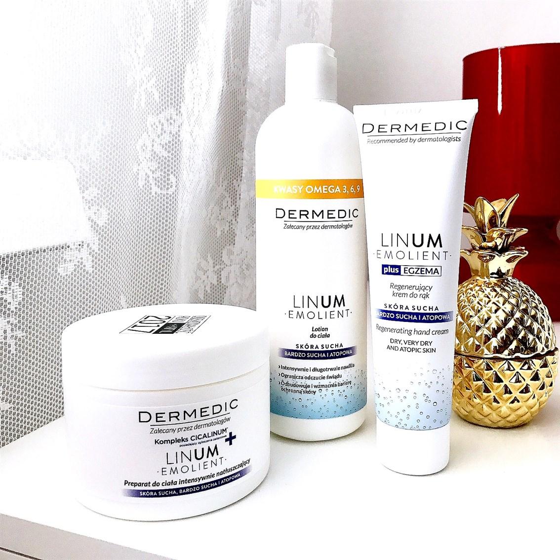 zdjęcie przedstawiające kosmetyki Dermedic Linum Emolient