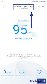 Xiaomi Mi Electric Toothbrush podgląd nazwy oraz procentu naładowania w aplikacji Mi Home
