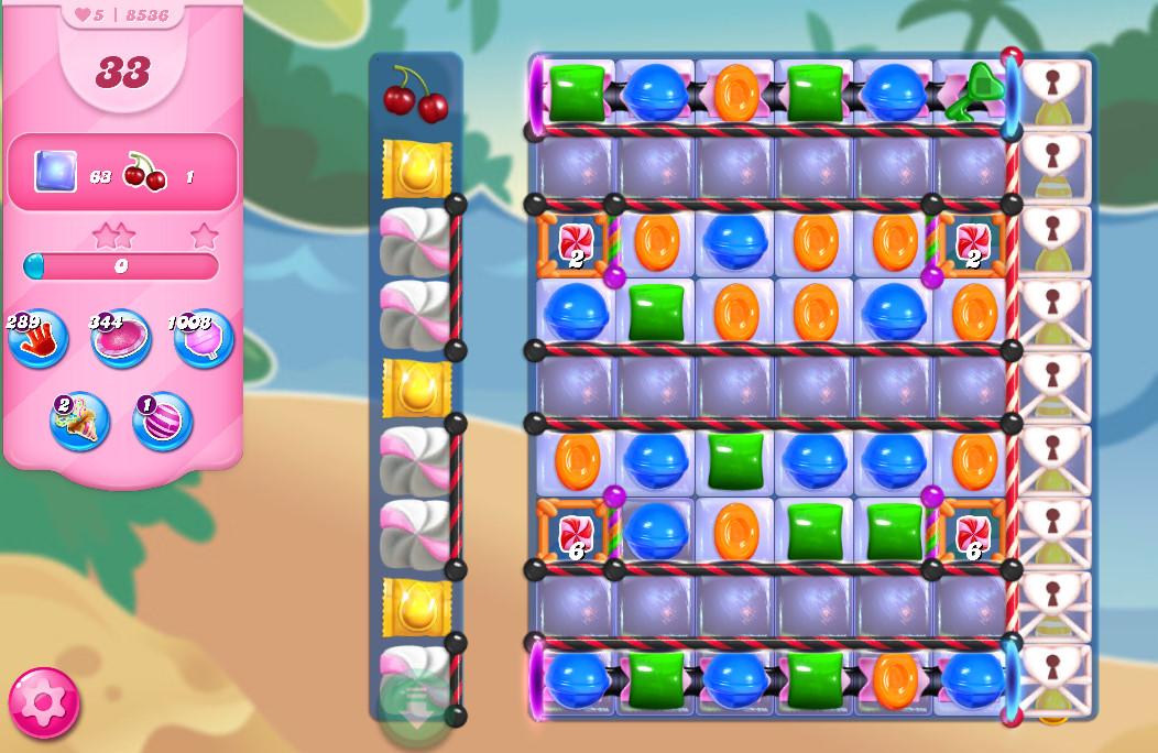 Candy Crush Saga level 8536