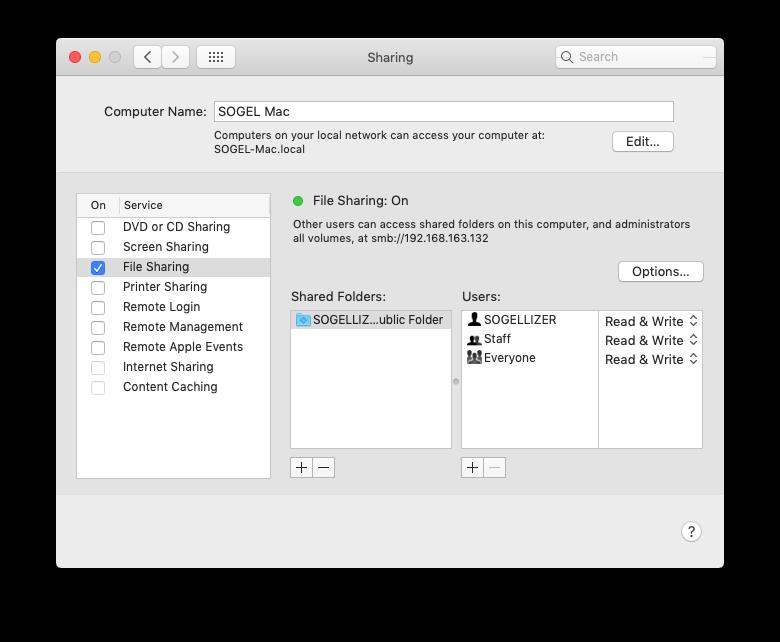 File Sharing macOS