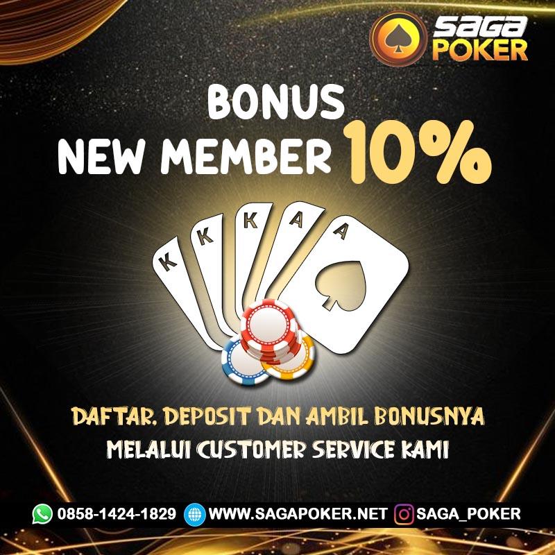 Saga Poker Bonus New Member 500rb