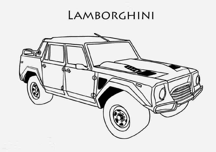 Dessin Coloriage De Voiture Lamborghini Coloriage Voiture