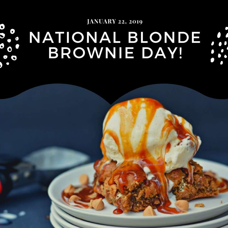 National Blonde Brownie Day Wishes Images download