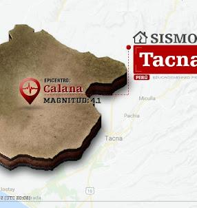 Temblor en Tacna de 4.1 Grados (Hoy Jueves 21 Septiembre 2017) Sismo EPICENTRO Calana - Tarata - IGP - www.igp.gob.pe