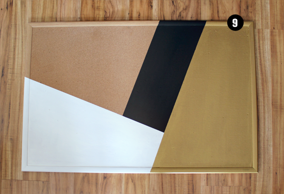 DIY Painted Bulletin Board Tutorial // Bubby and Bean