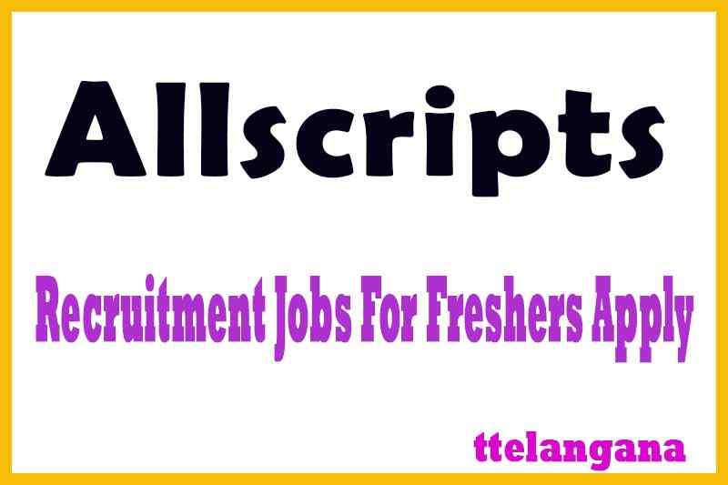 Allscripts Recruitment Jobs For Freshers Apply