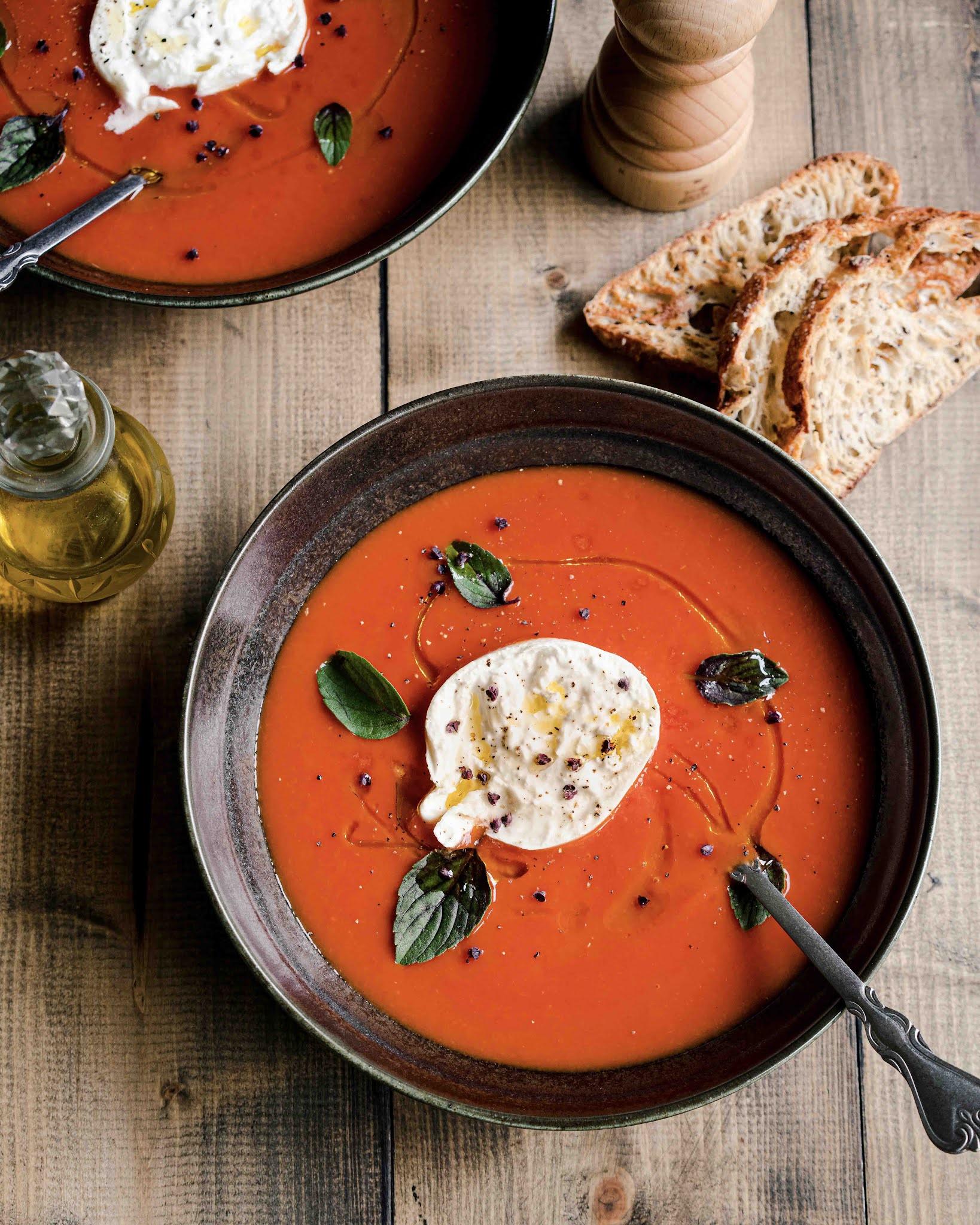 soupe réconfortante, tomates, soupe facile