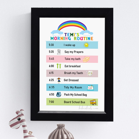 Buy fun and personal wall frames for your baby and kids nursery decor in Port Harcourt, Nigeria