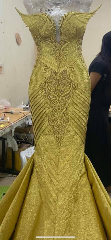 Cary Santiago custom made Gazini's evening gown