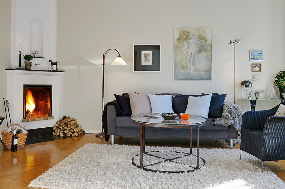 Piso sueco en gris oscuro decorar tu casa es for Decoracion piso oscuro