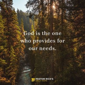 God Can Provide Through Any Faucet by Rick Warren