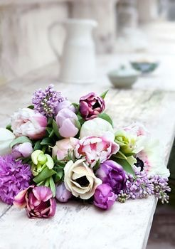 flower bouquet | Images of inspiration in Lavender, Lilac and Mauve