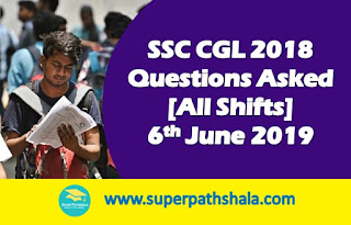 SSC CGL Questions Asked 6th June 2019