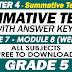 GRADE 5 - 4TH QUARTER SUMMATIVE TEST NO. 4 with Answer Keys (Modules 7-8)