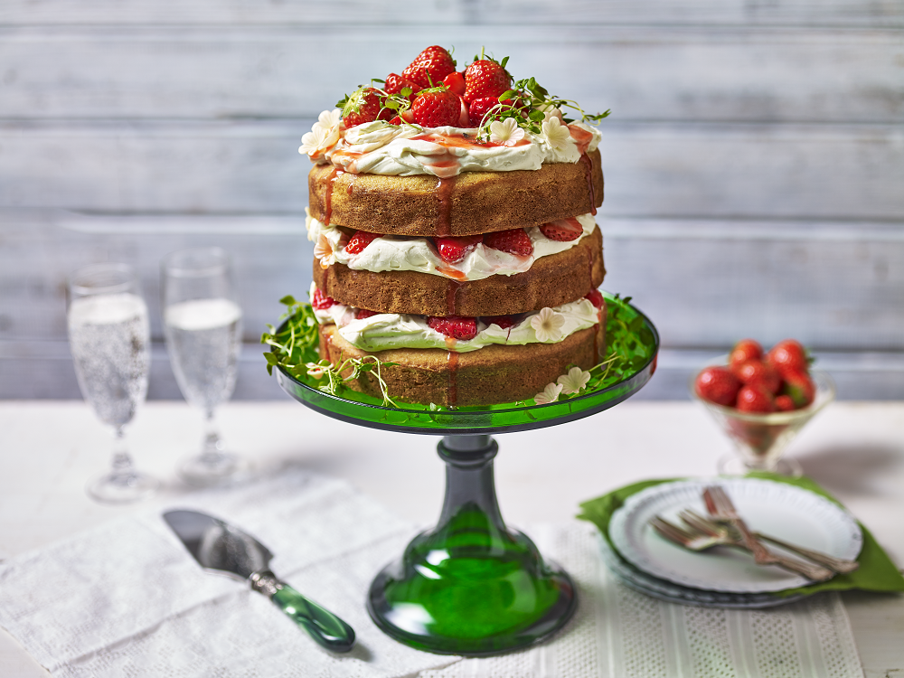 Strawberry And Malted Layer Cake