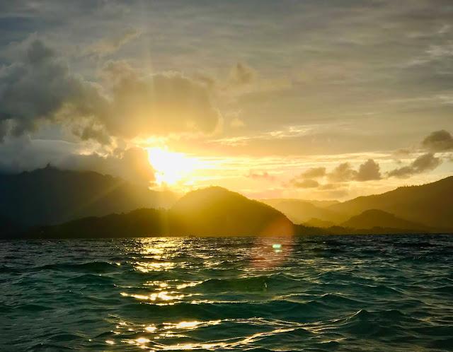 Sunset at Kelagian Besar Island, Lampung, Indonesia