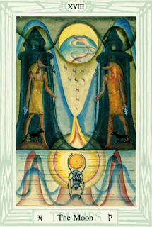 Magick of Pisces: Thoth Tarot The Moon XVIII