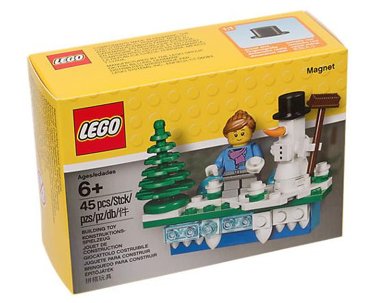 Satchel: Lego Christmas Holiday Fridge Magnet