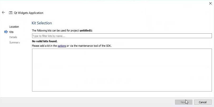 Install and run qt creator windows