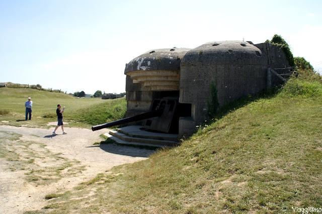 Uno dei cannoni intatti delle Batterie di Longues su Mer