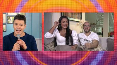 Faro em live com Gracyanne Barbosa e Belo. Crédito: Divulgação/ Record TV