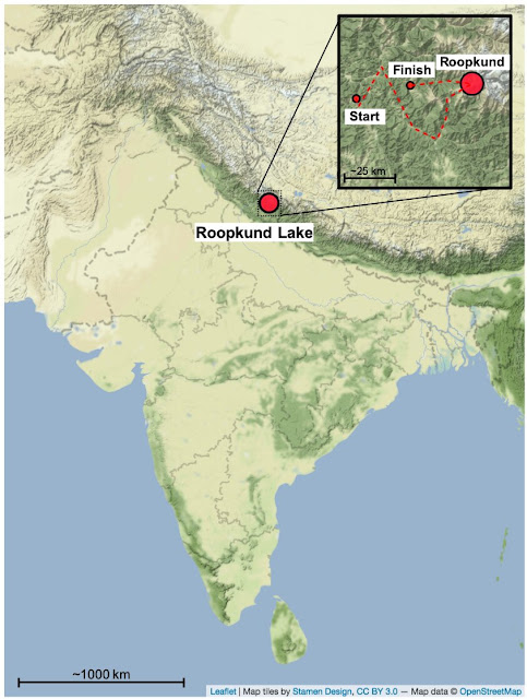 Biomolecular analyses of Roopkund skeletons show Mediterranean migrants in Indian Himalaya