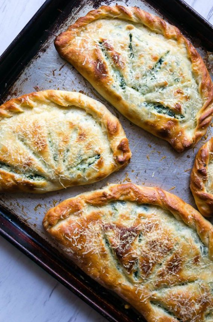 Ricotta and Spinach Calzones