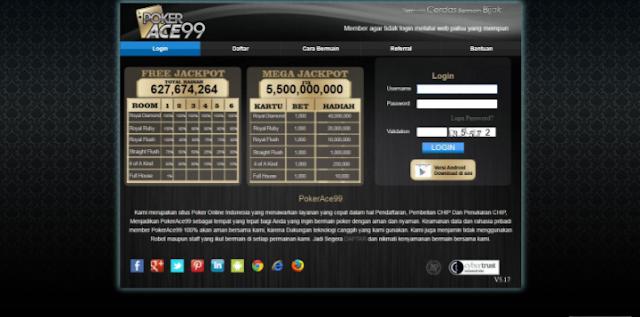 Website Agen Judi Pokerace99
