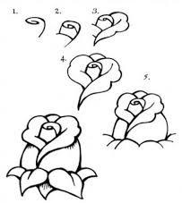 رسومات اطفال تعليمية رسم زهور جميلة بالرصاص افكار رسومات اطفال