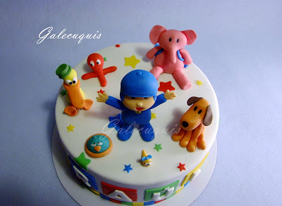 Pocoyó fondant cake