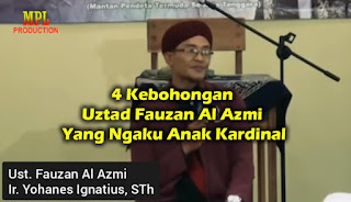 Uztad Fauzan Al Azmi Alias Ir. Yohanes Ignatius, S.Th.