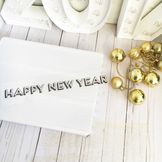 Happy New Year's Lightbox from Michaels for Heidi Swapp styled by Jamie Pate  |  @jamiepate for @heidiswapp