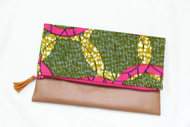 collaboration, african print, clutch, what i wore