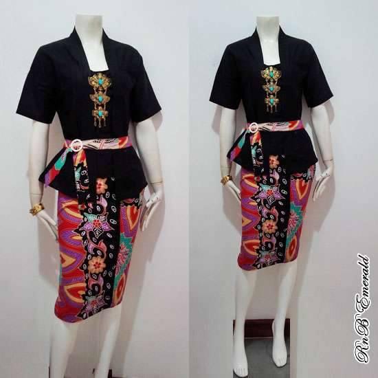 Baju Atasan Dress Batik Bawahan Rok Pendek Baju Batik Modern Dan