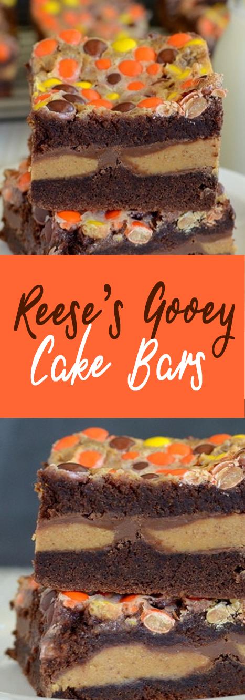 Recipe Reese's Gooey Cake Bars #bars #cookies