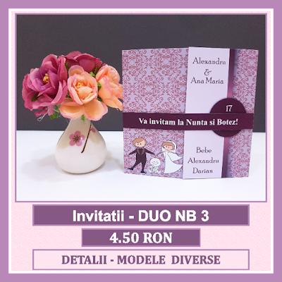 http://www.bebestudio11.com/2018/04/invitatii-nunta-si-botez-duo-nb-3.html