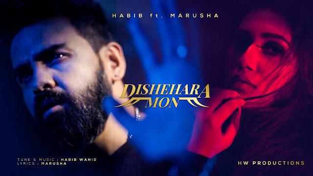 Dishehara Mon Lyrics ( দিশেহারা মন ) | Habib Wahid | Marusha